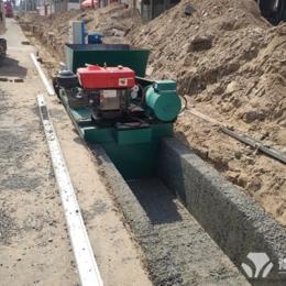 水渠成型机施工现场渭南