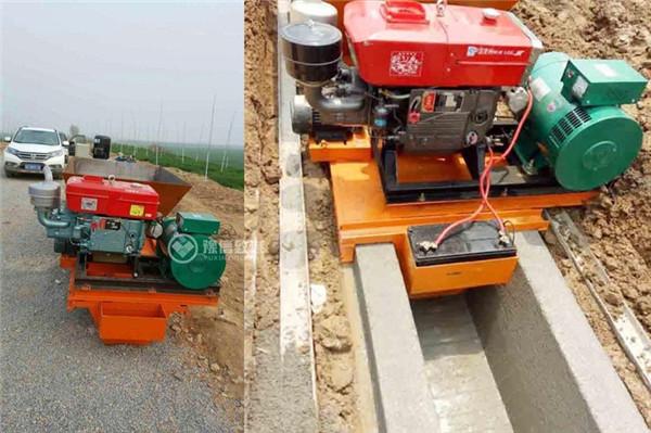 梯形边沟滑模机渠型设备展示